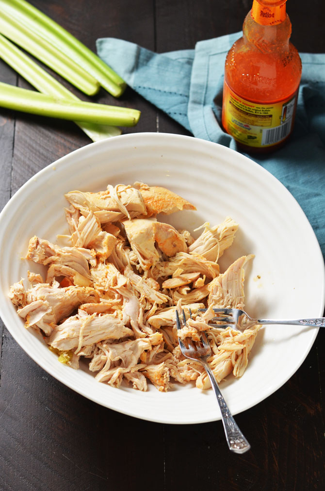Slow Cooker Buffalo Chicken Noodle Soup. This healthy crock pot soup tastes like comfort with a kick! | hostthetoast.com