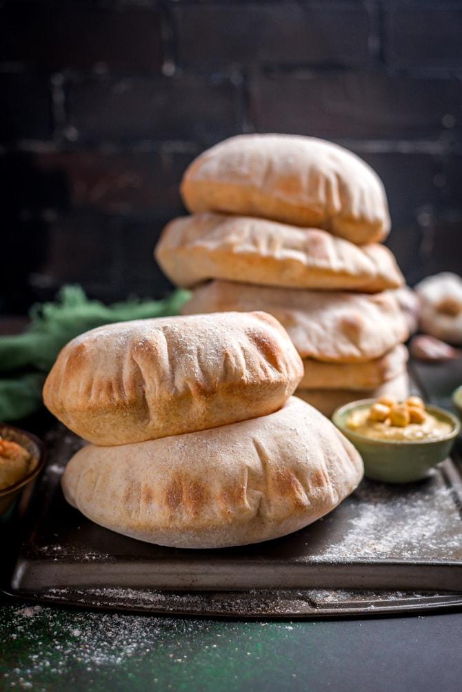 Homemade Pita Bread - Host The Toast