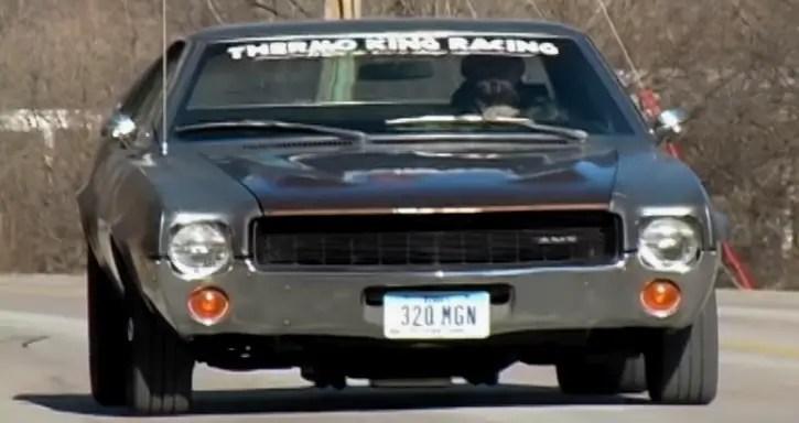 1969 amc amx muscle car burnout video