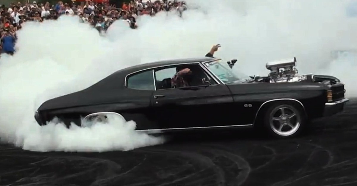 burnout american muscle cars
