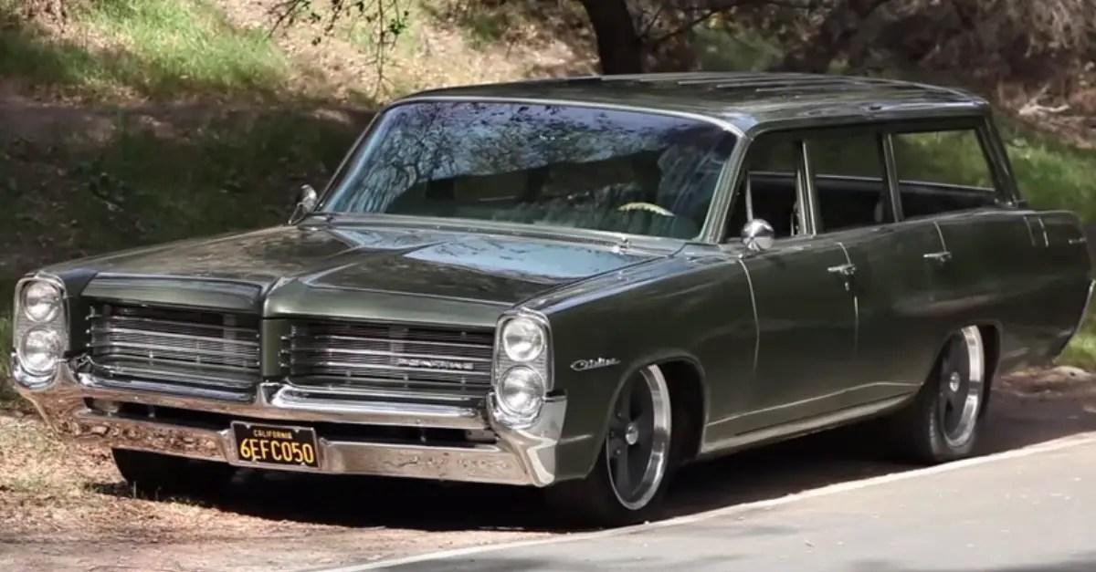 1964 Pontiac Catalina Safari burnout monster American muscle cars