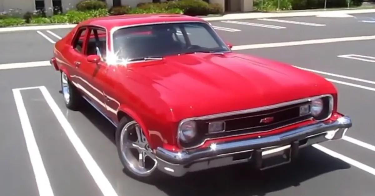 1974 restomod Chevrolet Nova Custom amrican muscle car
