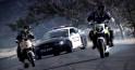 mustang police car drifting chasing motorcycles