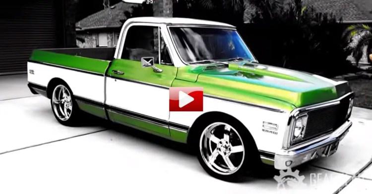 smokin 39 hot 1972 chevy cheyenne custom pick up hot cars. Black Bedroom Furniture Sets. Home Design Ideas