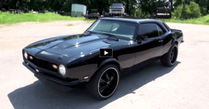 blacked out 1968 chevy camaro 350 on hot cars