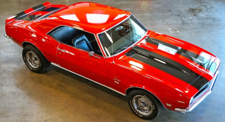 red 1968 chevy camaro ss 350