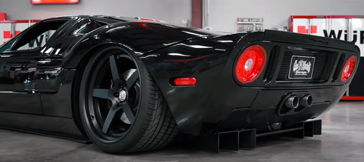 blacked out ford gt custom