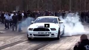 turbocharged mustang boss 302 drag racing