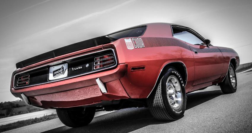 Red On Black 70 Plymouth Aar Cuda Survivor Video Hot Cars