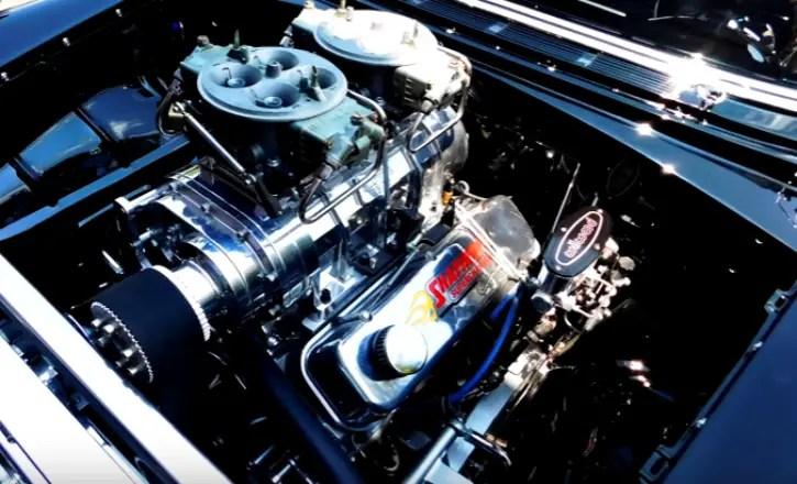 custom built 1955 chevrolet bel air scott shafiroff 540 engine