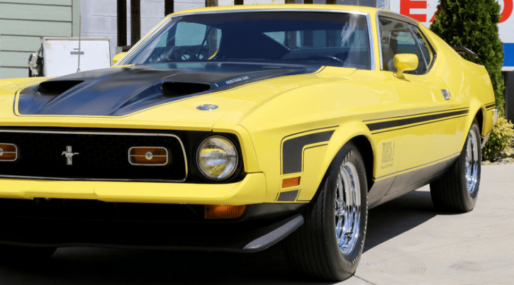 grabber yellow 1971 ford mustang 429 automatic