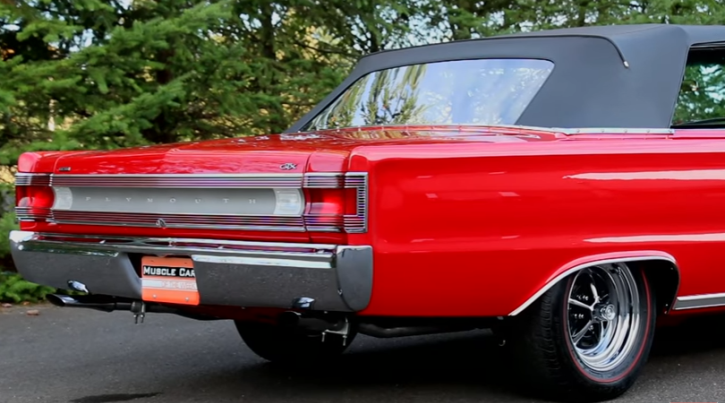 bright red 1967 plymouth belvedere gtx 426 hemi automatic