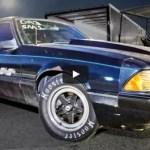 beater bomb 1990 mustang drag racing
