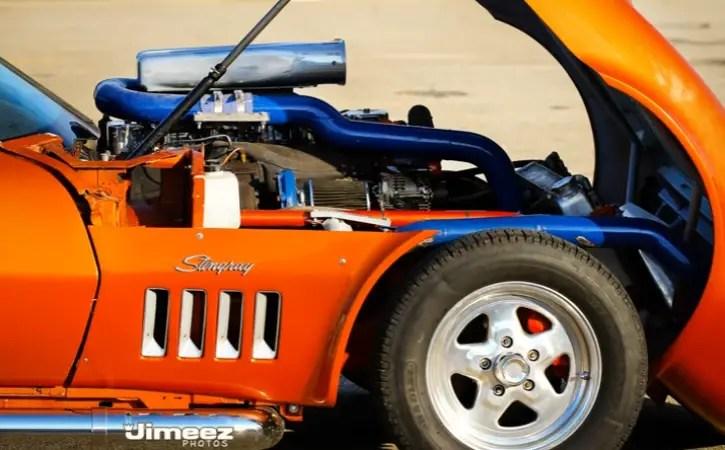 diesel powered 1968 corvette drag racing