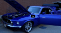 true blue 1969 mustang fastback world of wheels