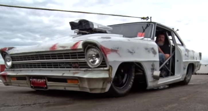 1967 chevy nova no prep drag racing