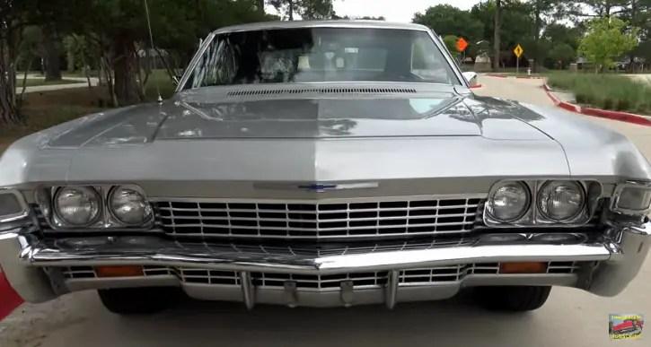 silver 1968 chevrolet impala 327 v8