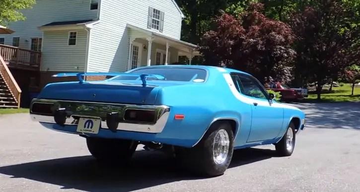 b3 blue 1973 plymouth road runner 440 build