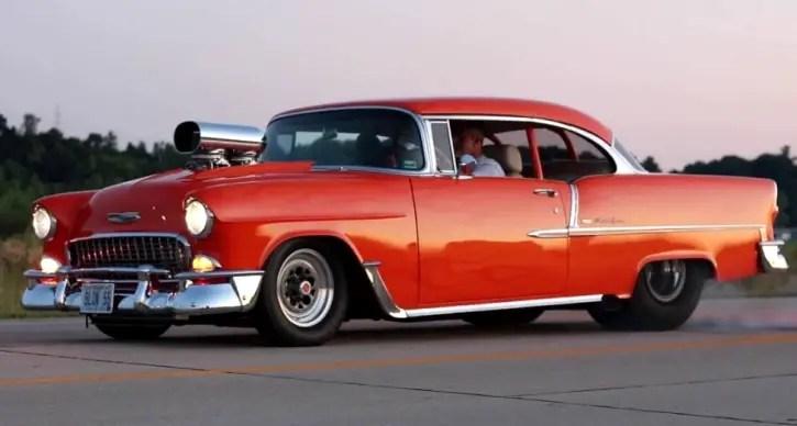 1955 chevy pro street
