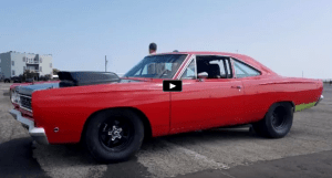 9 second plymouth road runner at the track