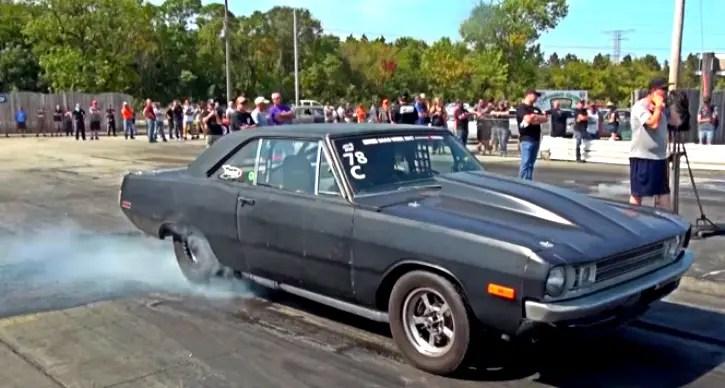 twin turbo dodge dart drag racing