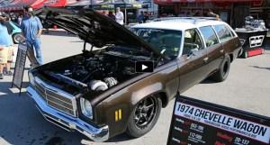 turbo 1974 chevelle wagon drag racing