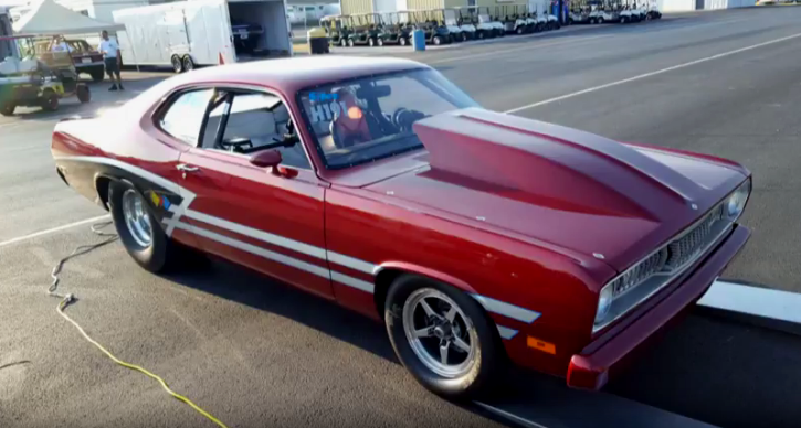 plymouth duster drag racing
