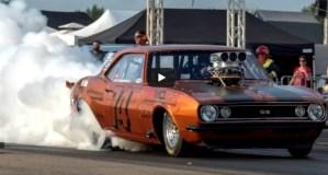 blown 1967 chevy camaro drag racing