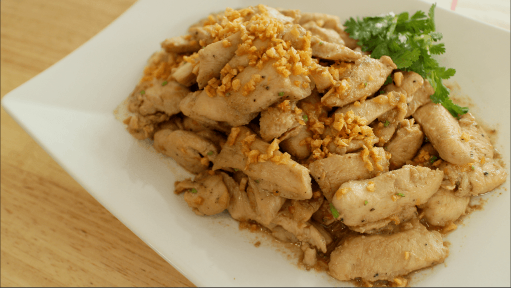 Garlic Pepper Chicken Recipe  Video Tutorial