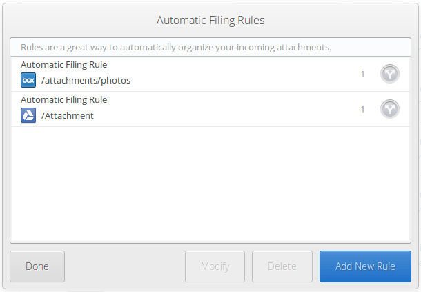 Automatic filling rules