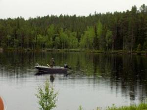 Fisketur på sjön. Foto Hotagenkortet