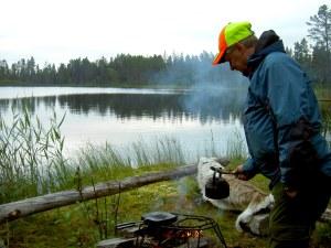Fikastund vid Rundtjärn. Foto Maritha Grelsson