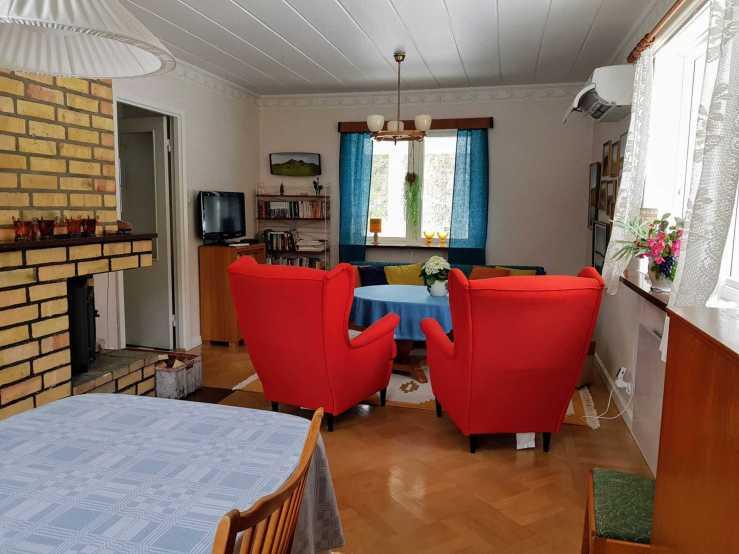 Villa Karin vardagsrum 1. Foto Stilla Dagar