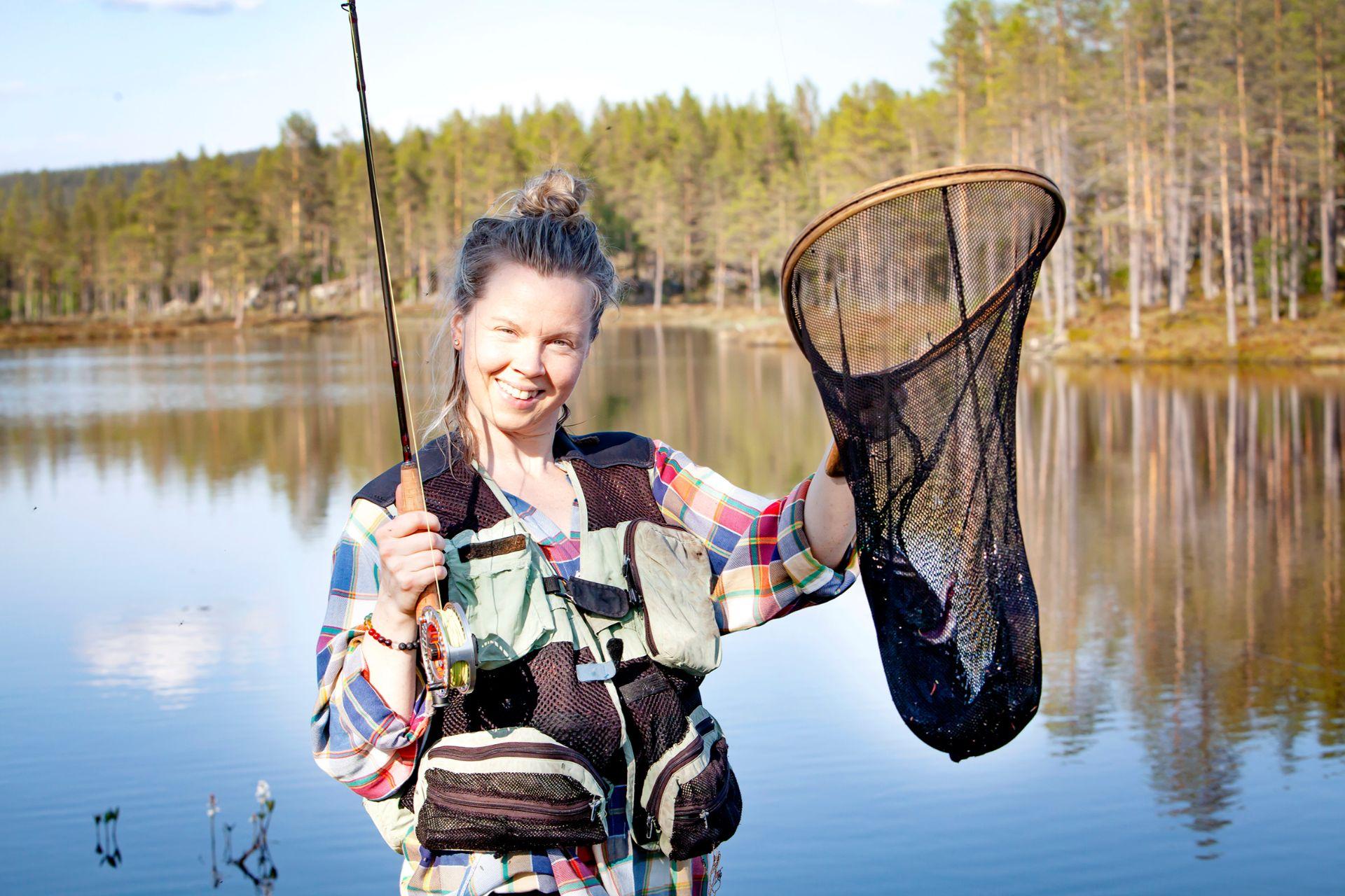 Laddad för fångst. Foto Anders Lundin