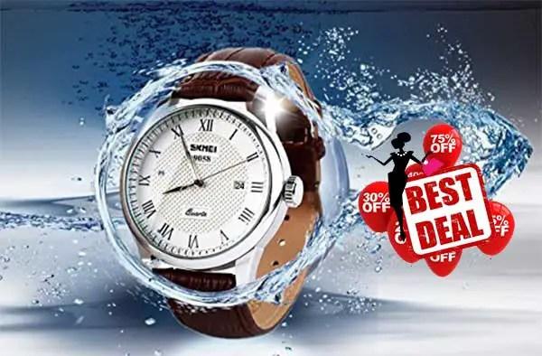Buy Mens Quartz Analog Roman Numeral Watch With Best deals