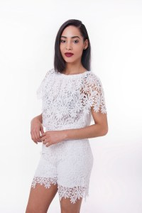 Stylish Two Piece Lace Short and Top Set | Stylish Outfits ...