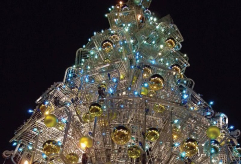 http://inhabitat.com/top-10-crazy-holiday-trees-made-from-bottles-bikes-shopping-carts-and-more/