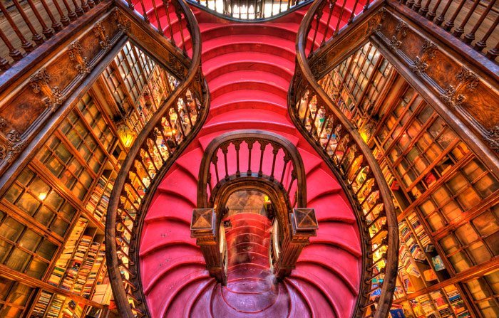 Librerías mágicas en el mundo - beautiful-bookstore-world-porto-lello-irmao-1