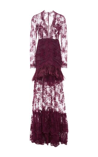 8 prendas MUST para esta temporada  - medium_costarellos-burgundy-marabou-feathers-and-chantilly-lace-long-dress
