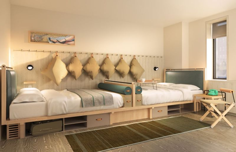 El nuevo hotel Moxy, una divertida alternativa para alojarte en Nueva York - nuevo-hotel-Moxy-6.-Cuarto-1