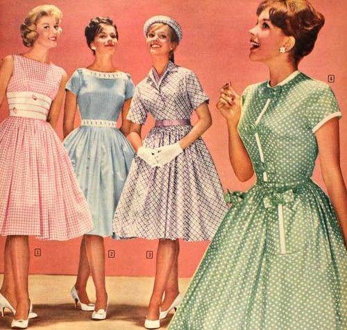 Evolución de la moda a través de los años - moda1950