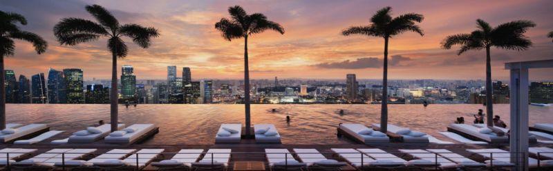 Los mejores spots para ver atardeceres en el mundo - Infinity-Pool-Singapur
