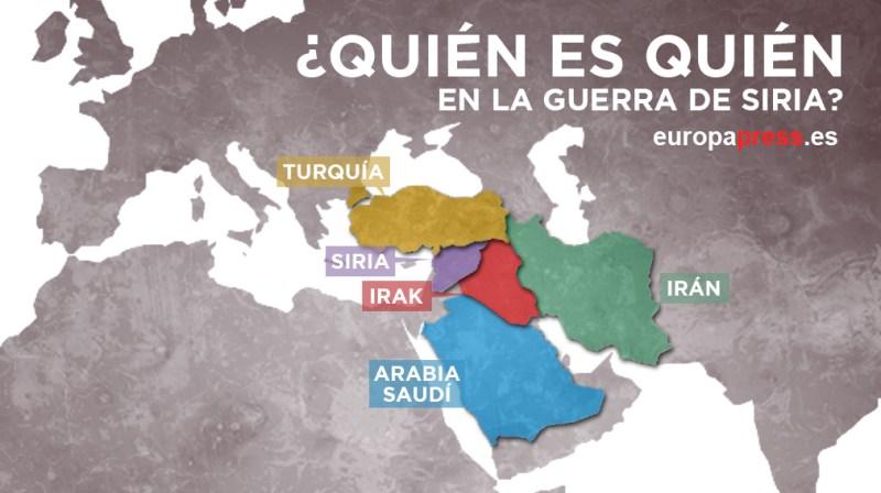 Cinco datos que debes saber para entender la guerra en Siria - Quienes-participan-en-la-guerra-de-Siria-