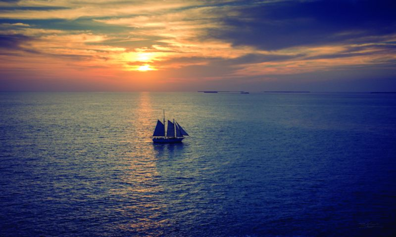 Paul Camhi: Pasión por la fotografía - Sailing-sunset