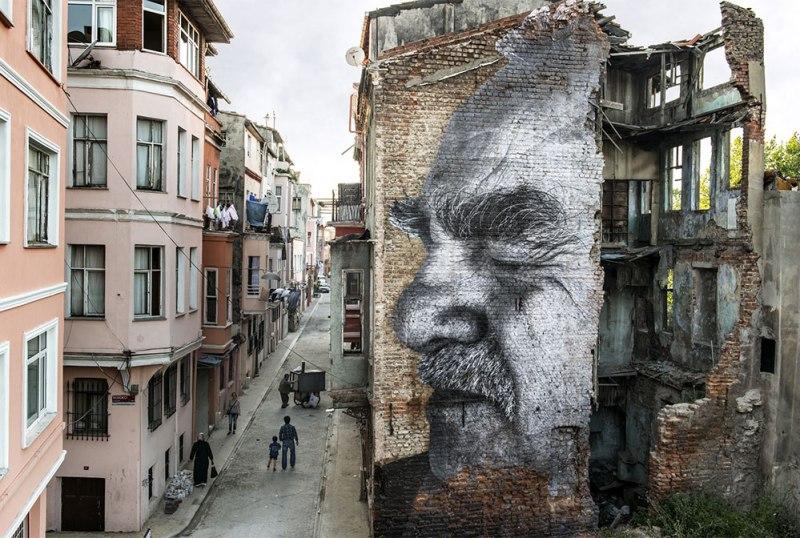¿Por qué no hacer arte en vez de construir muros? - exposicion-del-artista-jr-haz-arte-no-muros