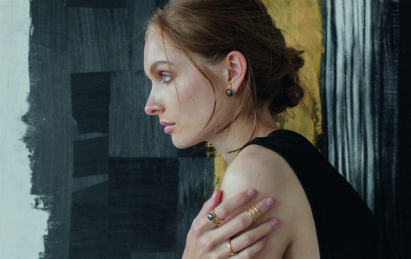 Libélula por Sofía, joyería con significado - libelula-saturno-aretes-anillo-dorado-perlas-grises