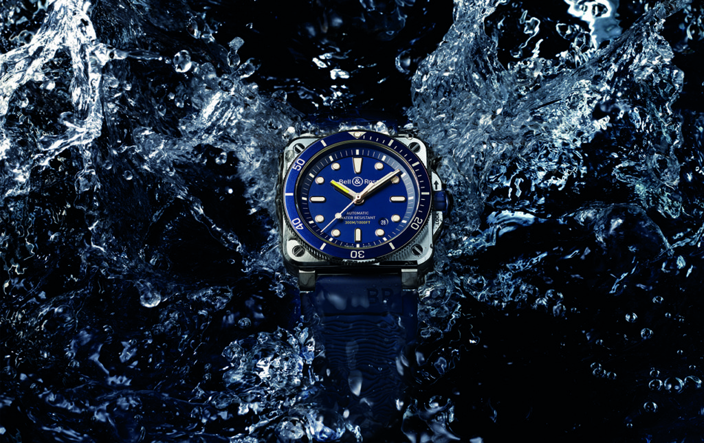Diver blue y Diver bronze - RELOJ PARA HOMBRE-BUCEO-BELL _ ROSS-SPLASH-AGUA-PROMO