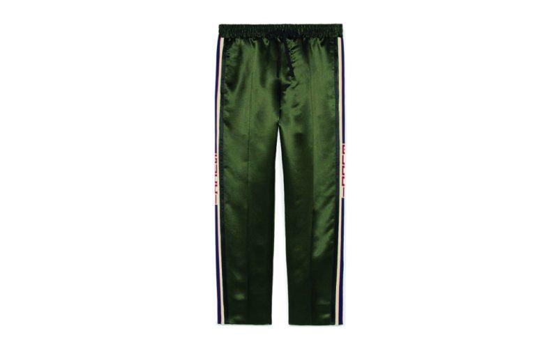 Wishlist - wishlist-him-gucci-pantalones-satinados-verde-militar-con-franja