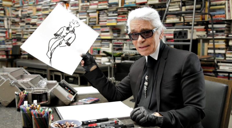 10 datos que no sabías sobre Karl Lagerfeld - karllagerfeld_boceto