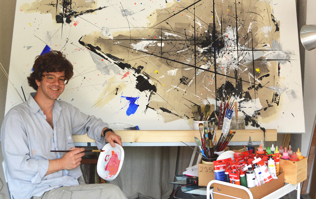 Luis Agulló: magia, impacto y colores neón - portada Luis Aguilló cuadro artista colores